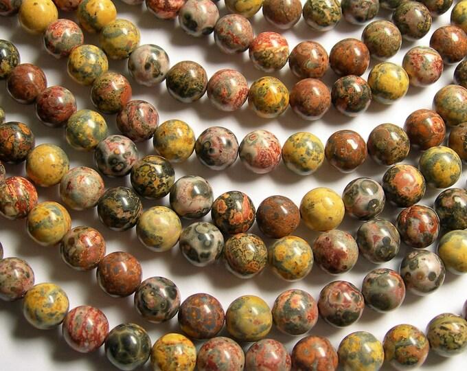 Leopard skin Jasper - 10 mm round beads -1 full strand - 40 beads - RFG1055