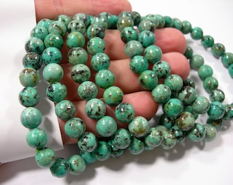 African turquoise  - 8mm round beads - 23 beads - 1 set - HSG232