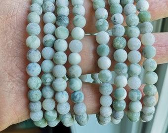 Peace Jade Matte  - 6mm round beads - 29 beads - 1 set - Lucky jade - harmony jade - HSG308
