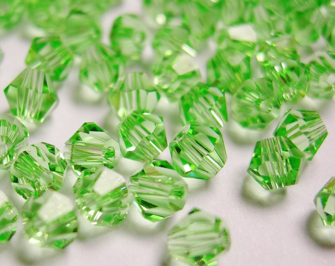 Crystal 3mm Bicone 100 pcs AA quality --sparkle light green