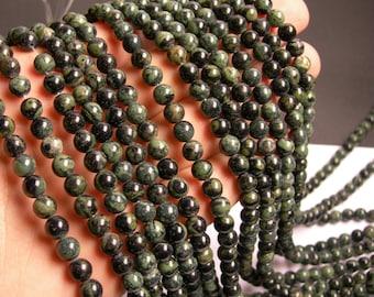 Kambaba jasper - 6mm round - full strand - 62 beads - A quality - RFG812