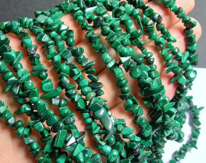 Malachite Gemstone - chip stone - 5mm  - full strand - 36 inch Genuine Malachite - PSC165