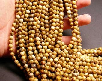 Picture Jasper 6mm(6.5mm) round beads - full strand  61 beads - RFG235