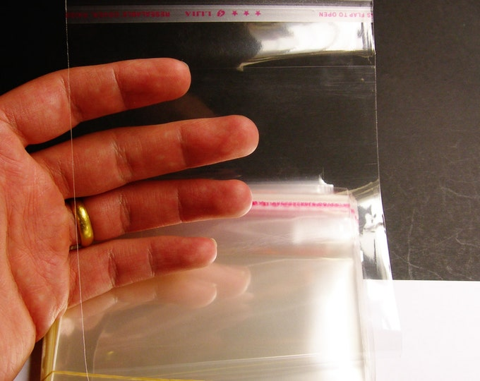 1000 QTY crystal clear plastic bags polypropylene cello resealable bags 12cm x 15cm - poly bags -PB1215