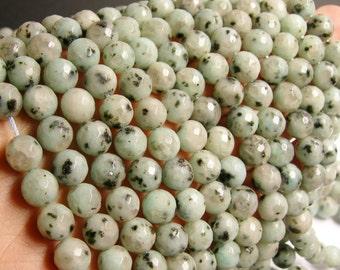 Lotus Jasper - 10 mm round faceted  beads -  full strand - 40 Beads - RFG1440