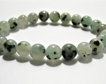 Lotus Jasper - 8mm round beads - 23 beads - 1 set - Sesame jasper  - HSG92