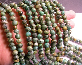 African turquoise - Nugget - bead - full strand - 10mm -  african turquoise gemstone - PSC207