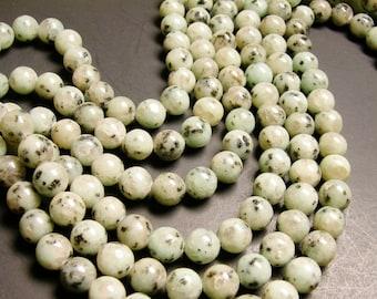 Lotus Jasper - 12 mm round   beads -1 full strand -32 Beads - RFG1438