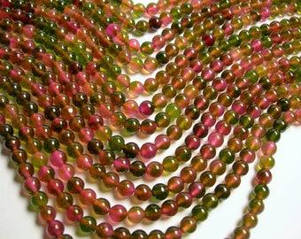 Jade 8mm (7.8mm) round beads 1 full strand of 47 beads - tourmaline Color jade - JDC39
