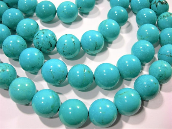 """Howlite Turquoise Butterfly Gemstone Loose Beads Size 15x20mm Approx 15.5/"""" Long"""