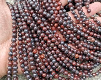 Brecciated Jasper - 6mm round beads - full strand - 64 beads - Red Brecciated Jasper - RFG2327