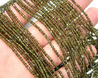 Gold Obsidian  - 2mm faceted round beads - full strand - 188 beads - A Quality - PG245