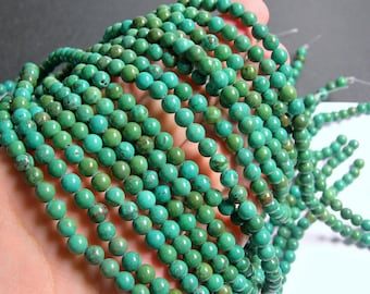Howlite turquoise - 6mm round beads -1 full strand - 68 beads - A quality - WHOLESALE DEAL - RFG262