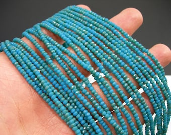 Crystal - rondelle faceted 3mm x 2mm beads - 190 beads - AA quality - opaque blue light dual tone - CAA2G223