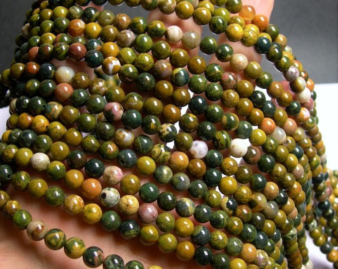 Ocean Jasper - 6mm round -  16 inch  strand - 67 beads - A quality - RFG917