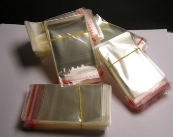 5cm x 9cm - 1000 QTY plastic bags crystal clear  polypropylene cello resealable bags  - poly bag - PB59