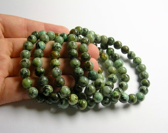 African turquoise  - 8mm round beads - 23 beads - 1 set - A quality - HSG18