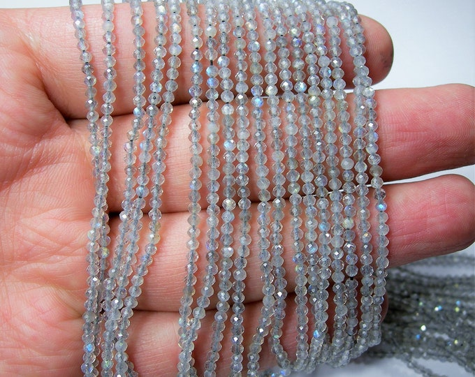 Labradorite - 2mm faceted round beads - full strand - 181 beads - micro faceted labradorite - AA QUALITY - PG159