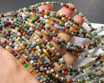 Gemstone mix - 4mm round beads - full strand - 96 beads - A quality - multi gemstone mix - RFG773
