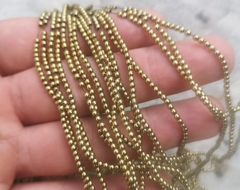 Hematite Gold - 2 mm round beads - full strand - 195 beads - RFG2330