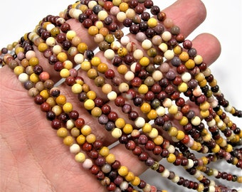 Mookaite - 4mm(4.3mm) round - 1 full strand - 87 beads - A quality - RFG1993