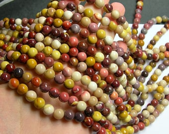 Mookaite - 8mm round -  full strand - 48 beads - A quality - RFG824