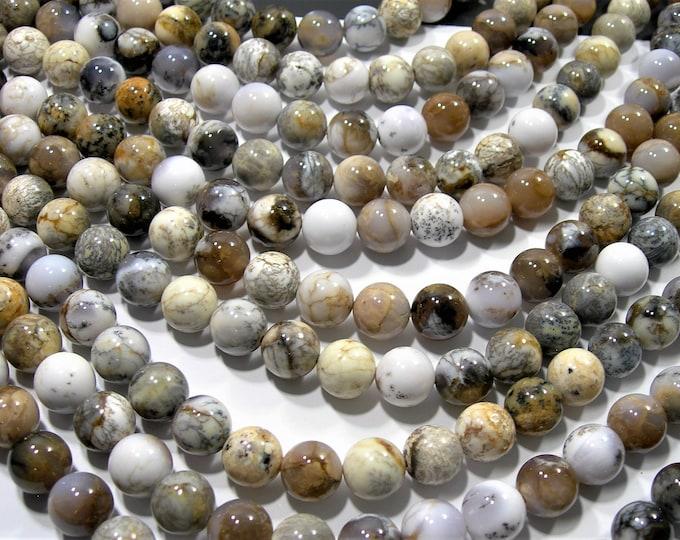 Dendritic Opal - 12mm round beads - full strand - 33beads - RFG2052