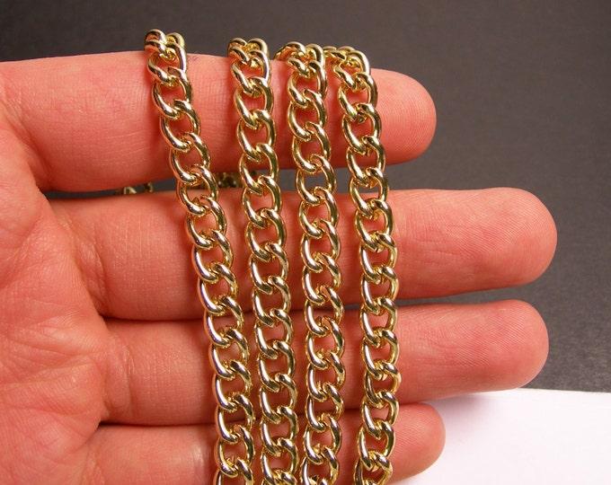 Gold chain - lead free nickel free won't tarnish - 1 meter - 3.3 feet - aluminum chain - NTAC116