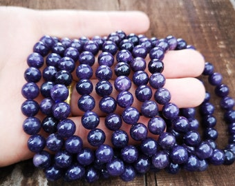 Lepidolite - 1 set - 8mm  - 23 beads - HSG262