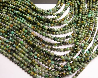 Turquoise - African - 4 mm round - 1 full strand - 98 beads - A quality -RFG1261