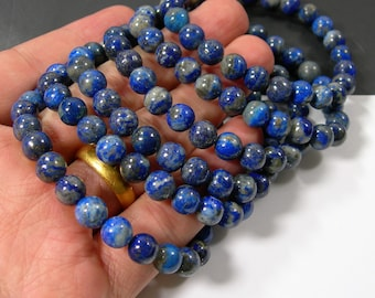 Lapis Lazuli  - 8mm round beads - 23 beads - 1 set - Natural not dye  - HSG247