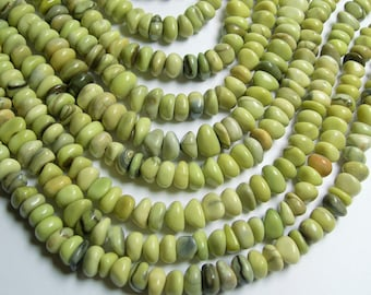 Butter Jade - bead - full strand - 10mm -  pebble nugget - chip stone - PSC142