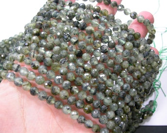 Prehnite - 6mm faceted beads - Full Strand - 63 beads - Micro Faceted - RFG2296