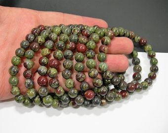 Dragons blood jasper - 1 set - 8mm  - 23 beads - A quality  - HSG27