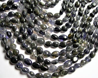Iolite - pebble puff nugget - 1 full strand - 40 beads -  PSC375