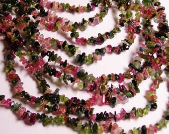 Tourmaline gemstone - bead - full strand - AA Quality - chip stone - NRG3