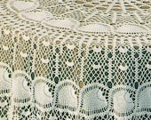Vintage 72 quot Round Crochet Pineapple Tablecloth Digital Pattern PDF