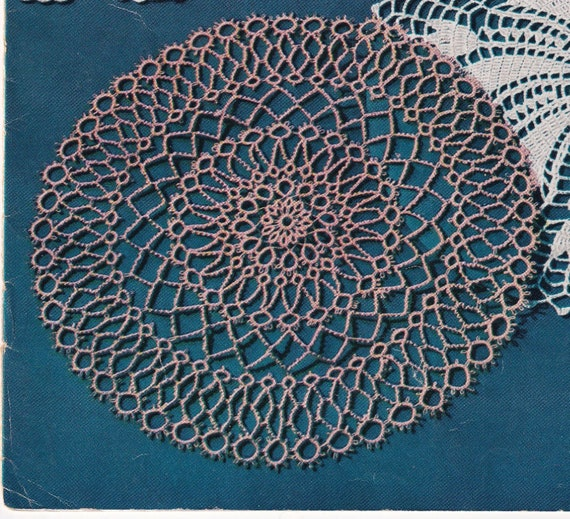 Round 9 Inch Tatted Doily Tatting Pattern Instructions