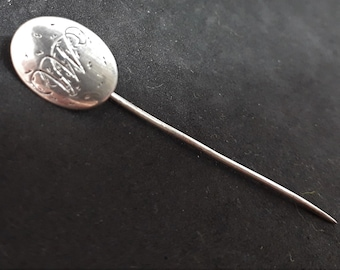 a5540ada33bc Antique Monogrammed Stick Pin... Silver Plated... Estate Piece