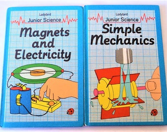 2x Ladybird Junior Science Books... Magnets & Electricity... Simple Mechanics... 1982