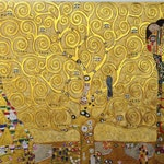 Gustav Klimt Tree of Life reproduction oil painting on canvas, gold paint, made to order, 100% money back guarantee