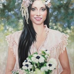Painting from photo, large oil painting on canvas. 100% money-back guarantee