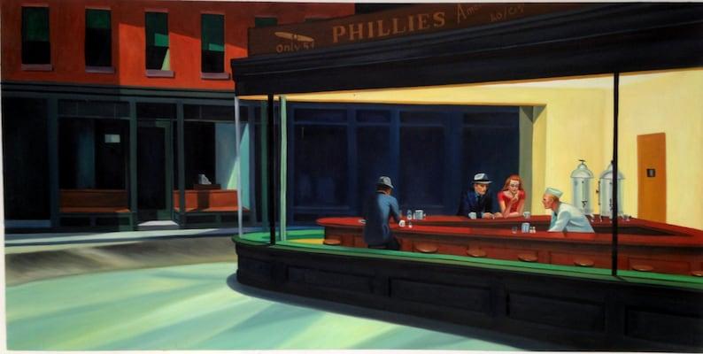 Nighthawks by Edward Hopper Night Hawks reproduction oil image 0