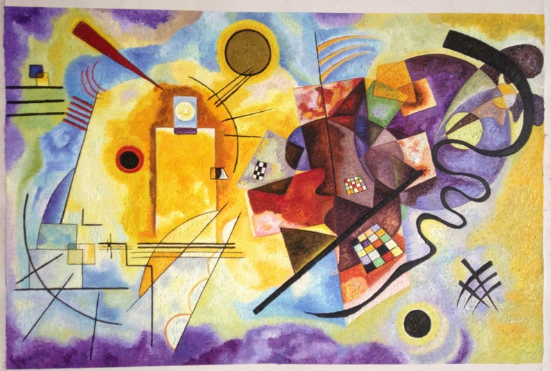 Yellow Red Blue by Kandinsky reproduction oil painting on image 0