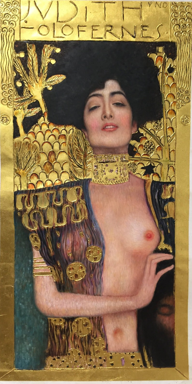 Gustav Klimt Judith and the Head of Holofernes reproduction image 0