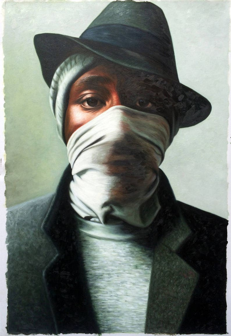 Mos Def hip hop oil painting on canvas 20x30 inch large wall image 0