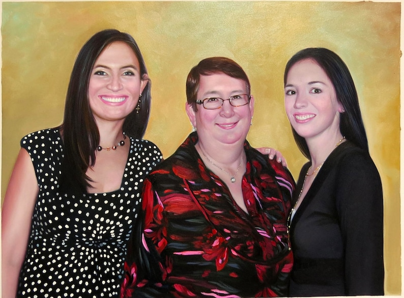 Custom portraits from photo large oil painting on canvas. image 0