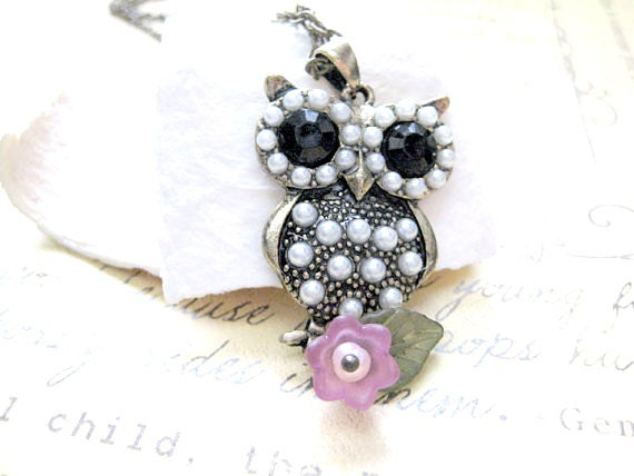 Owl Necklace, Owl Jewelry, Owl Pendant,Owl Pendant Necklace,Bird Necklace, Owl Charm Necklace,Christmas Gift,Gift for Her,