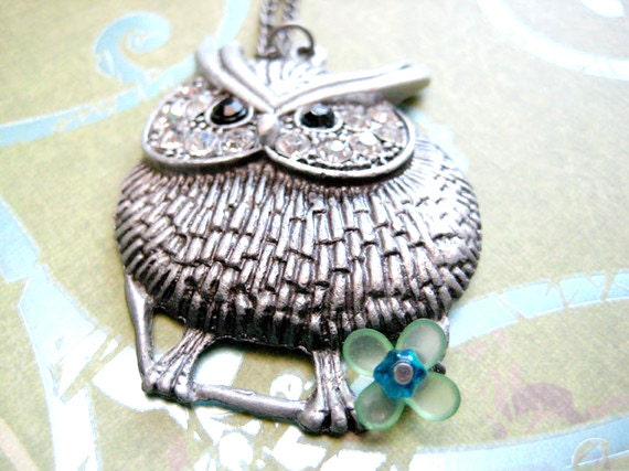 Owl Necklace, Owl Pendant Jewelry, Bird Neklace,Silver Owl Necklace, Owl Pendant Necklace, Owl Charm Necklace, Animal Necklace, Owl Gifts