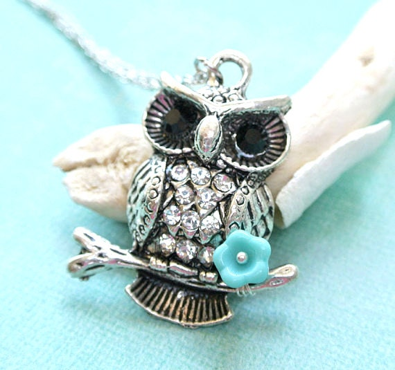 Owl Necklace, Owl Jewelry, Owl Pendant, Silver Owl Necklace, Owl Charm Necklace,Bird Necklace,Animal Necklace,Owl Pendant Necklace